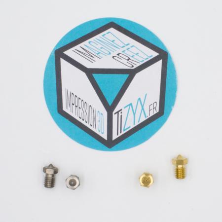 Buses laiton et inox imprimante 3D TiZYX k25