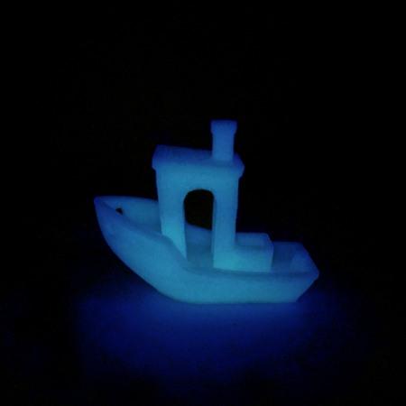 Filament PLA Bleu Phosphorescent