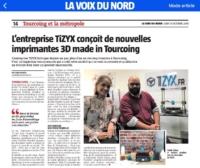 Article La Voix du Nord TiZYX imprimante 3D multifonctions EVY