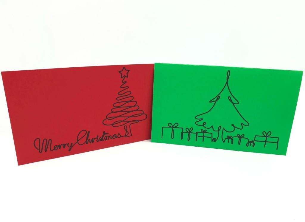 Cartes de Noël traceur EVY