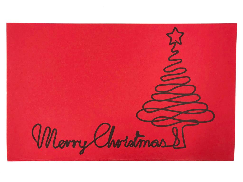 Carte de Noël traceur EVY